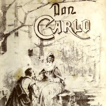 Frontespizio del libretto del Don Carlo